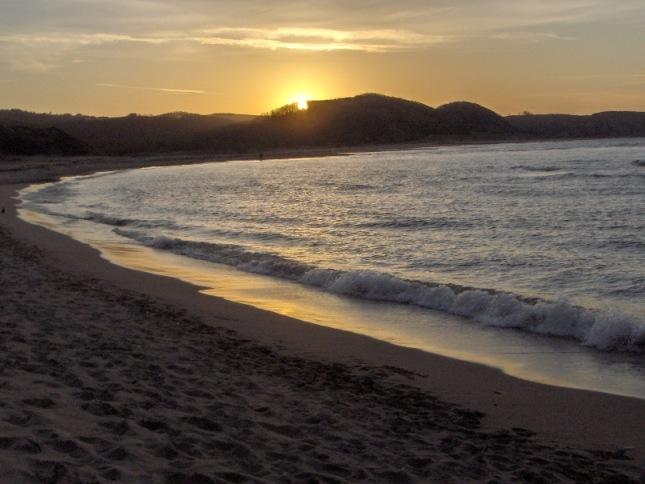 coucher de soleil à Sapanca