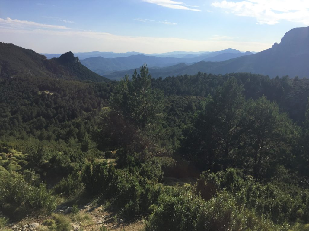 Montagnes à perte de vue